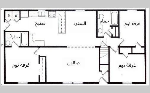 تصاميم منازل صغيرة 120 متر