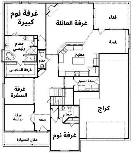 مخطط منزل دور واحد 300 متر