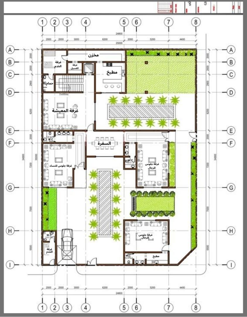 مخطط دور واحد لبيت سعودي